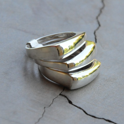 3 Band Square Ring