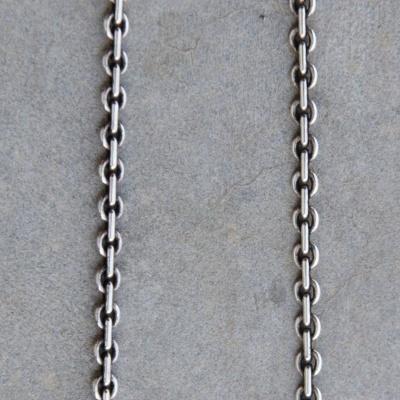 40cm Oxidized Thin Link Chain