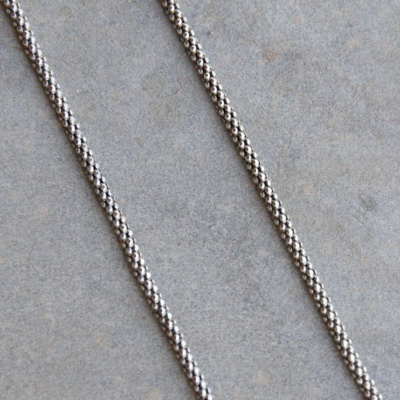 65cm Oxidized Thin Rope Chain