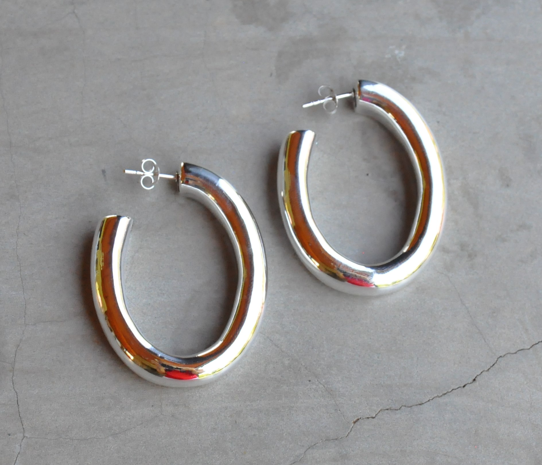 qvc hoop omega sterling style silver com page back product by earrings