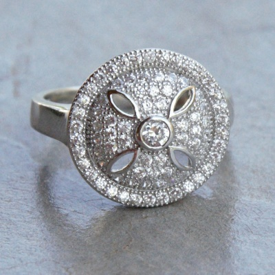 Dainty Round Cubic Zirconia Ring