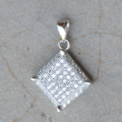 Cubic Zirconia Diamond Shaped Pendant