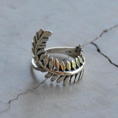 Elongated Leaf Ring
