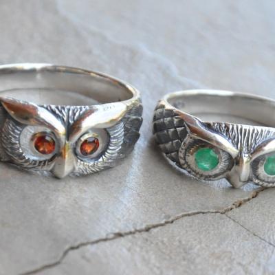 Red Eye Owl Ring