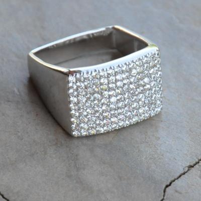 Square Cubic Zirconia Ring