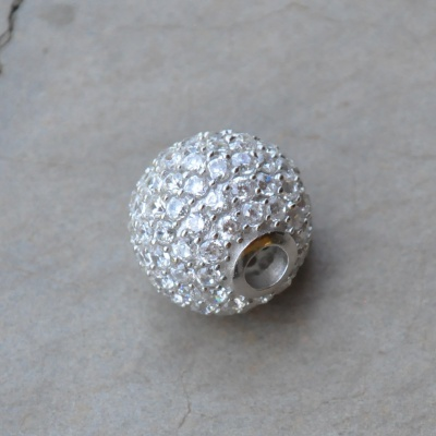 Sterling silver CZ ball R550 x 3 WPEG021