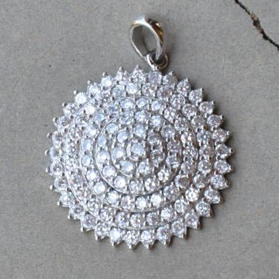 Sterling silver CZ circle pendant R450 x 2 WPEG016