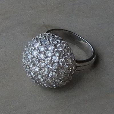 Multi Stone Cubic Zirconia Ball Ring