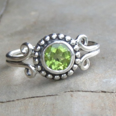 Antique Style Peridot Ring