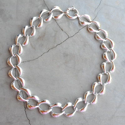 Sterling silver chunky necklace(45cm) R2090 x 4 WNES024 Diameter of link is 2cm