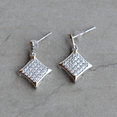 Cubic Zirconia Drop Earrings Set