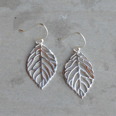 Sterling silver leaf drops (25x15mm small) R190 x 8 WERS002 (55 x 30mm Large) R350 x 4 WERS023