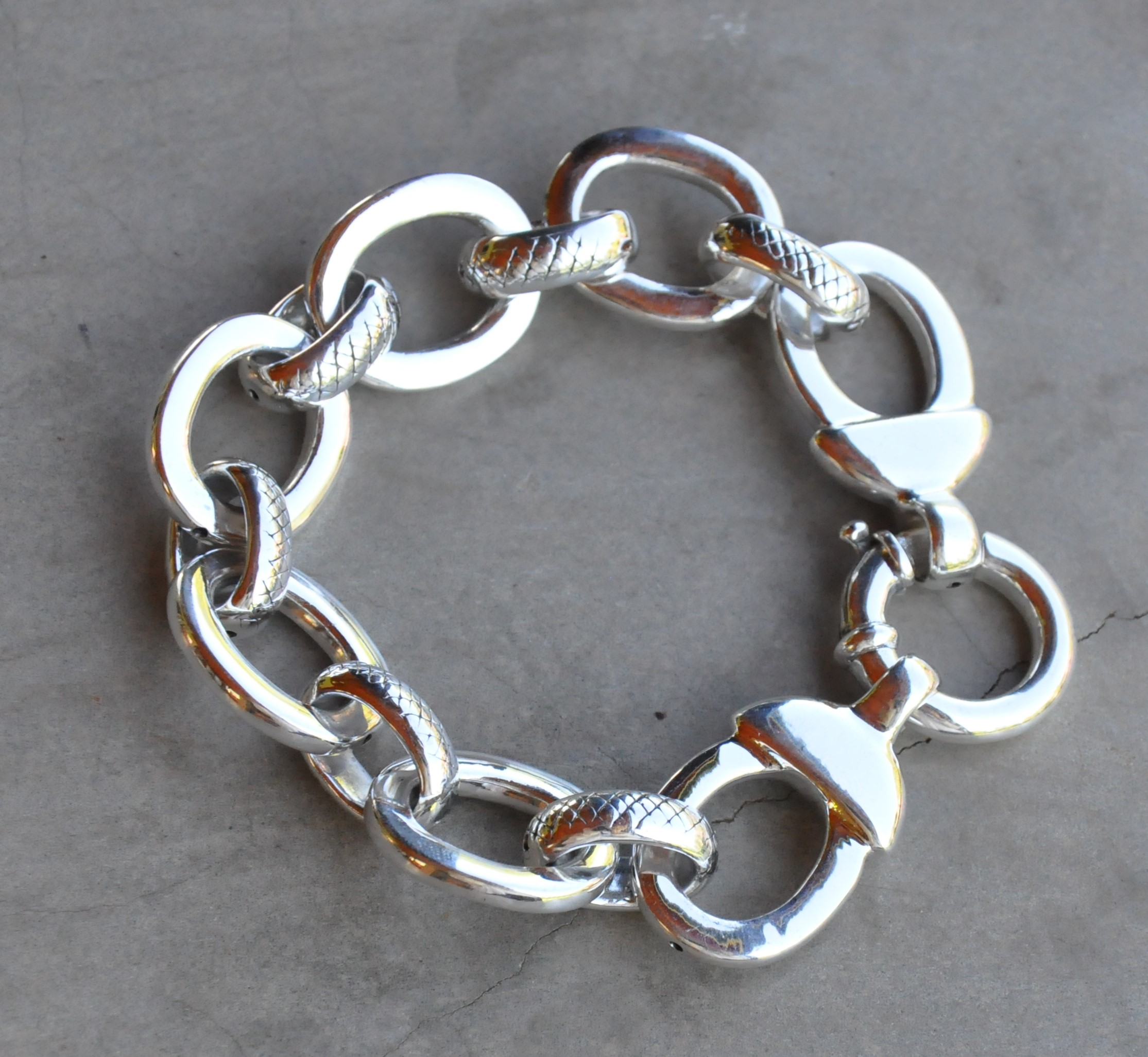 link garber sidney bracelet products progressive wave linked