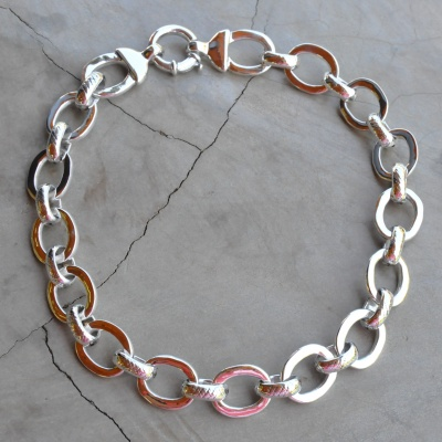 Sterling silver linked necklace (40 cm) R2200 X 6 WNES033 or(50cm) R2400 x 3 WNES025 Diameter of links 2cm