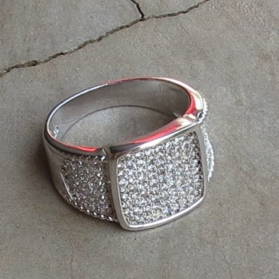 Micro Set Cubic Zirconia Wide Band