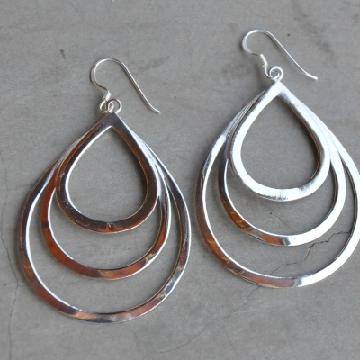Sterling silver multi oval drop (50 x 35mm) R350 x 6 WERS006