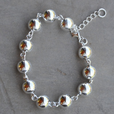 Sterling silver multiple ball bracelet(18-20cm) R650 x 3 WBRS006