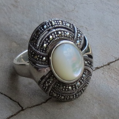 Oval Marcasite Ring