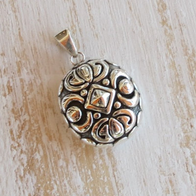 Silver Electroformed Detailed Pendant