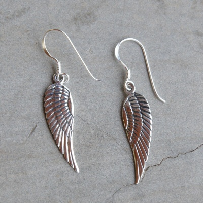 Sterling silver angle wing drop (25 x 8mm) R250 x 5 WERS011