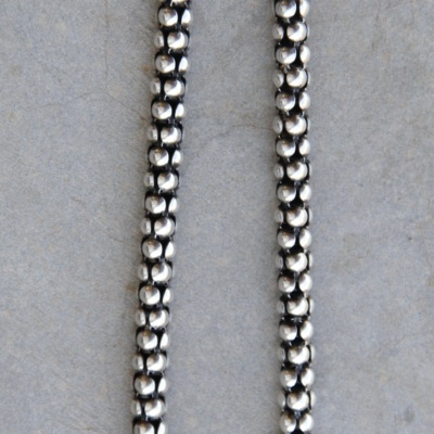 40cm Thick Oxidized Rope Chain
