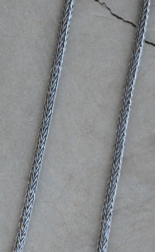 75cm Oxidized Medium Rope Chain