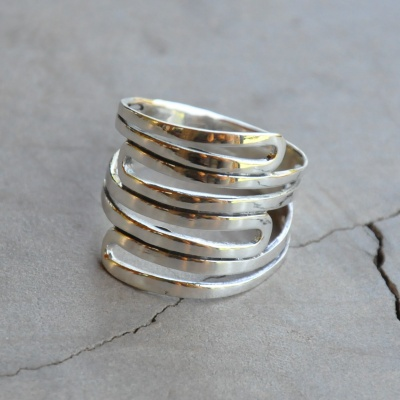 Silver Multi Band Ring