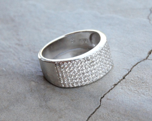 Rounded CZ ring R660 X 3 WRICZ008