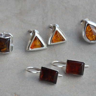 Sterling silver amber in various styles