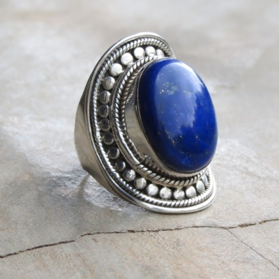 Ethnic Lapis Lazuli Ring
