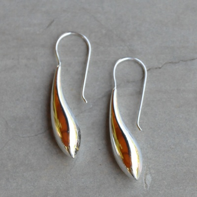 Sterling silver solid drops  R190(3cm) x 9 WERS010
