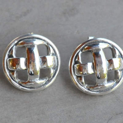 Sterling silver woven studs R350 X 7 WERS024