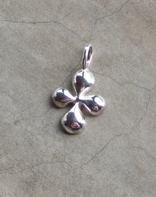 Sterling Silver Bubble Cross